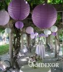 Lampion gömb 35 cm több szín