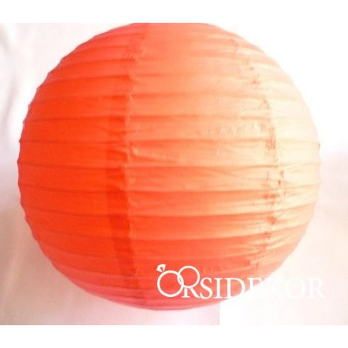 Lampion gömb 25 cm, narancs