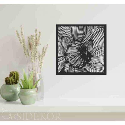 Virág falikép fából