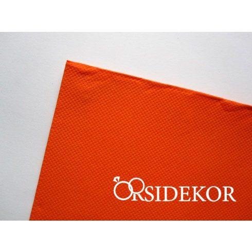 Textilhatású szalvéta, narancs