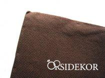 Textilhatású szalvéta, barna