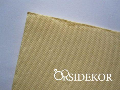 Textilhatású szalvéta, krém