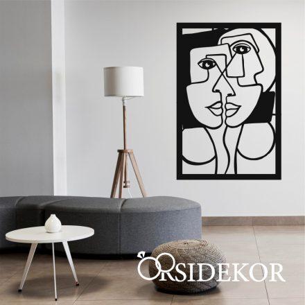 Picasso ihlette falikép fából