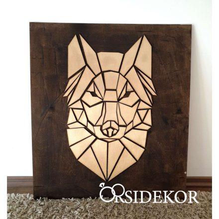 2 rétegű farkas falikép fából