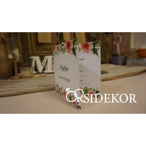 Esküvői meghívó modern mintával
