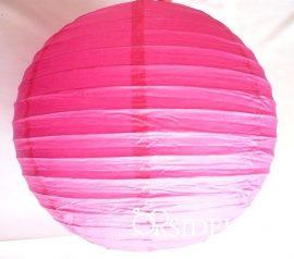 Lampion gömb, pink, 30 cm
