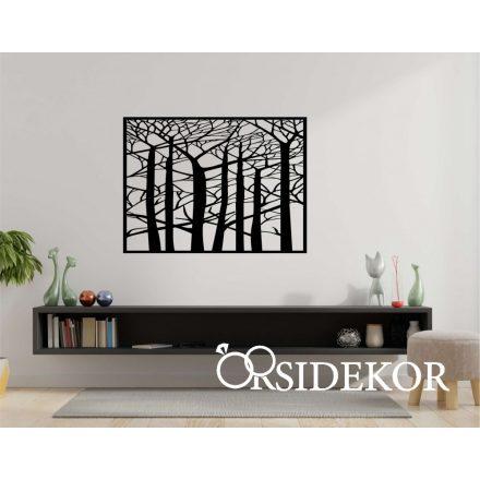 Erdő falikép fából