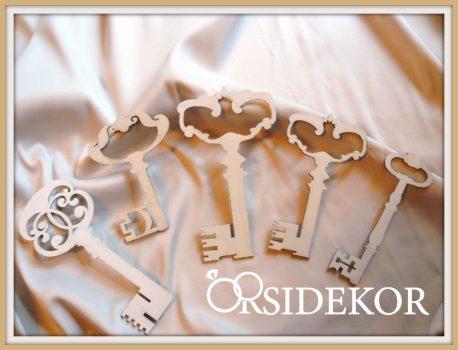 Fa kulcsok -  vintage esküvői dekoráció