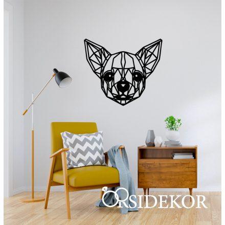 Geometrikus csivava kutya falikép fából