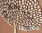 Egyedi kreatív fa vendégkönyv