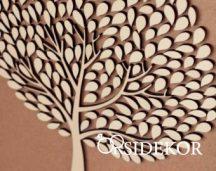 Kreatív fa vendégkönyv levelekkel