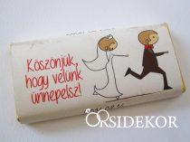 Köszönetajándék csoki