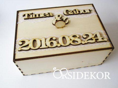 Egyedi dobozos névre szóló vendégkönyv
