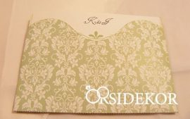 Kihajtható esküvői meghívó mintás tokban