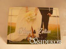 Fényképes esküvői meghívó, egylapos