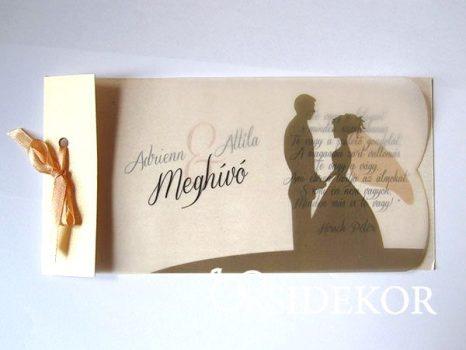 Pausz esküvői meghívó vőlegény-menyasszony mintával