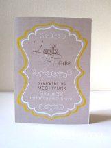 Esküvői meghívó keretes szöveggel