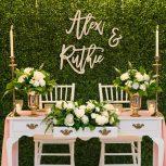 Esküvői hátfal díszek
