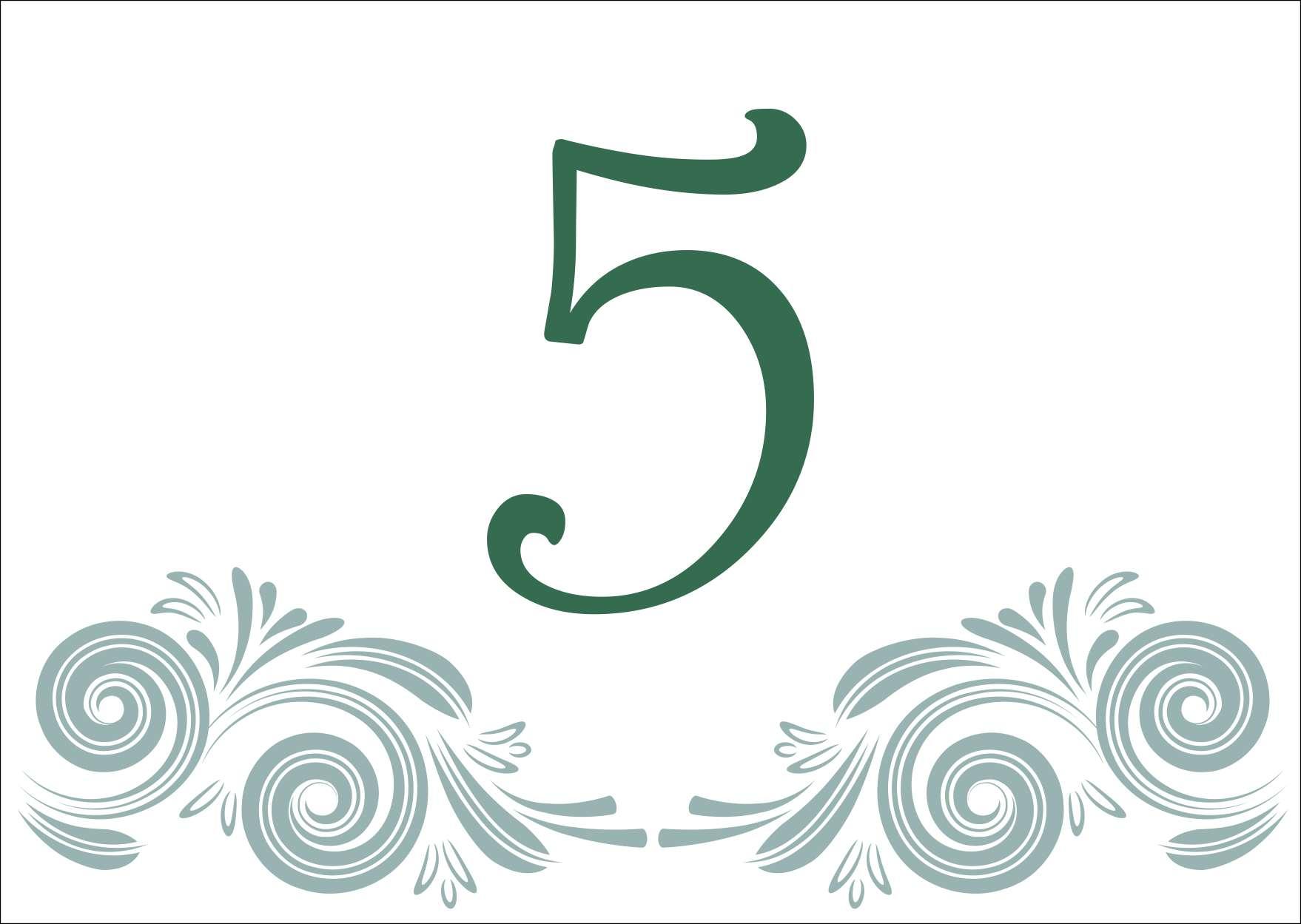 4 minta - asztalszám