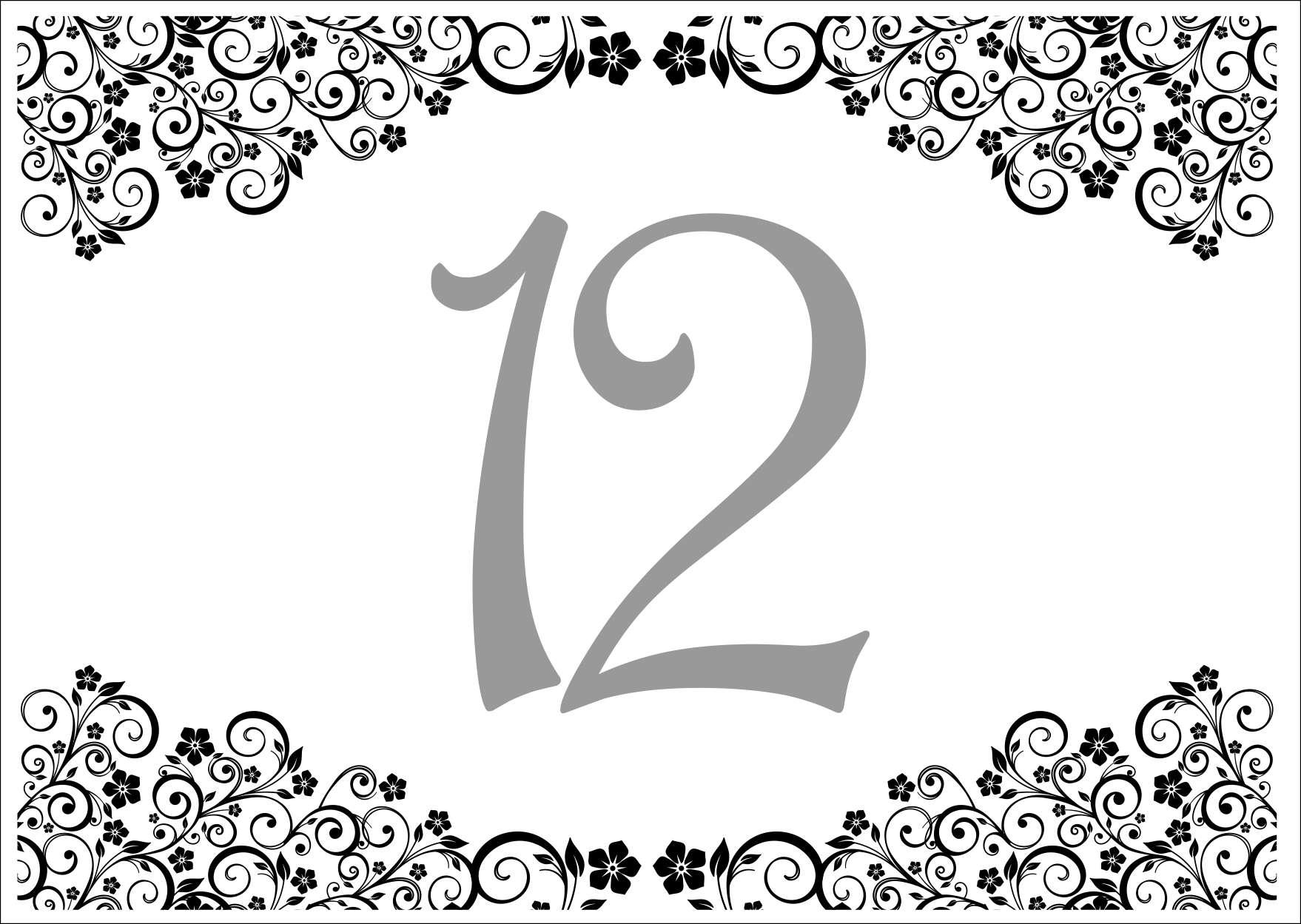13 minta - asztalszám