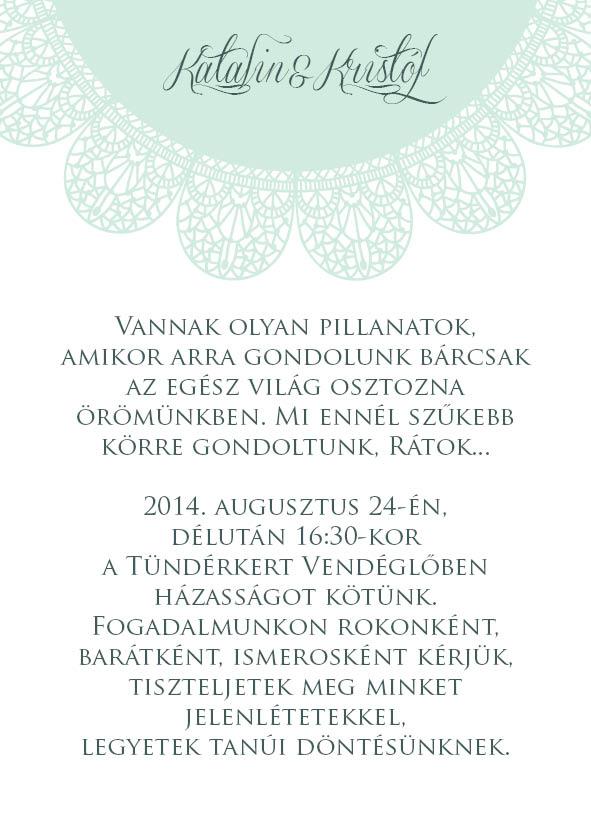 6 minta - borítékos esküvői meghívó