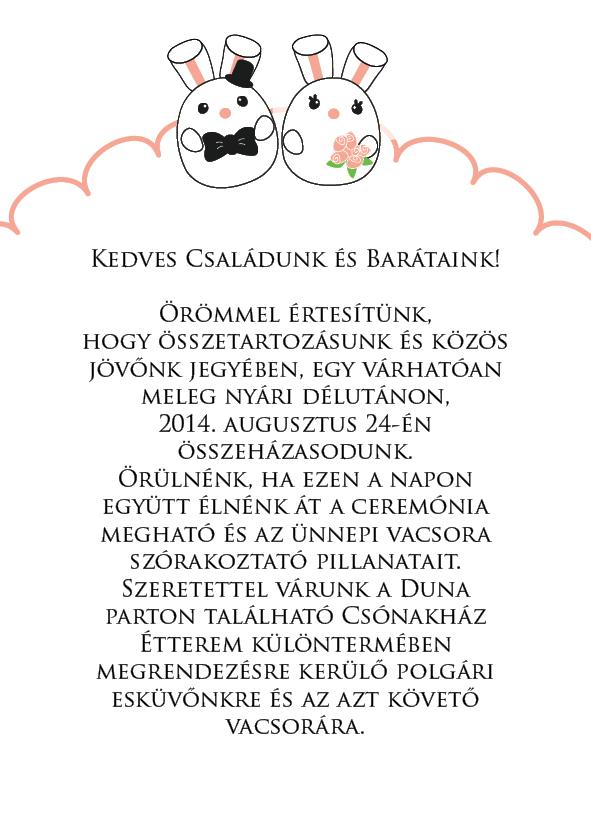 8 minta - borítékos esküvői meghívó