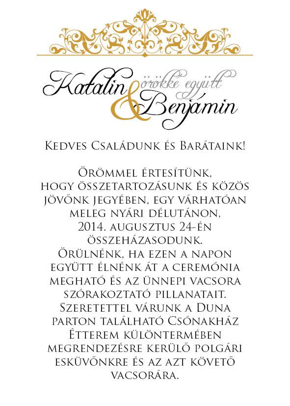 9 minta - borítékos esküvői meghívó