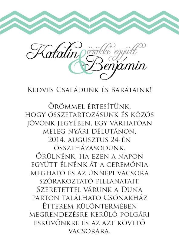 12 minta - borítékos esküvői meghívó