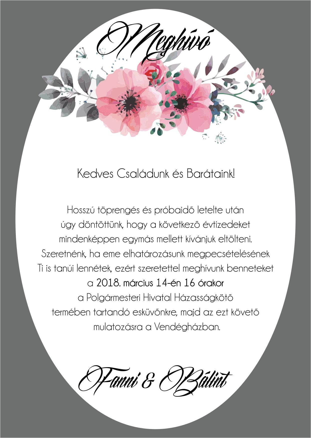 137  minta - tekercses esküvői meghívó