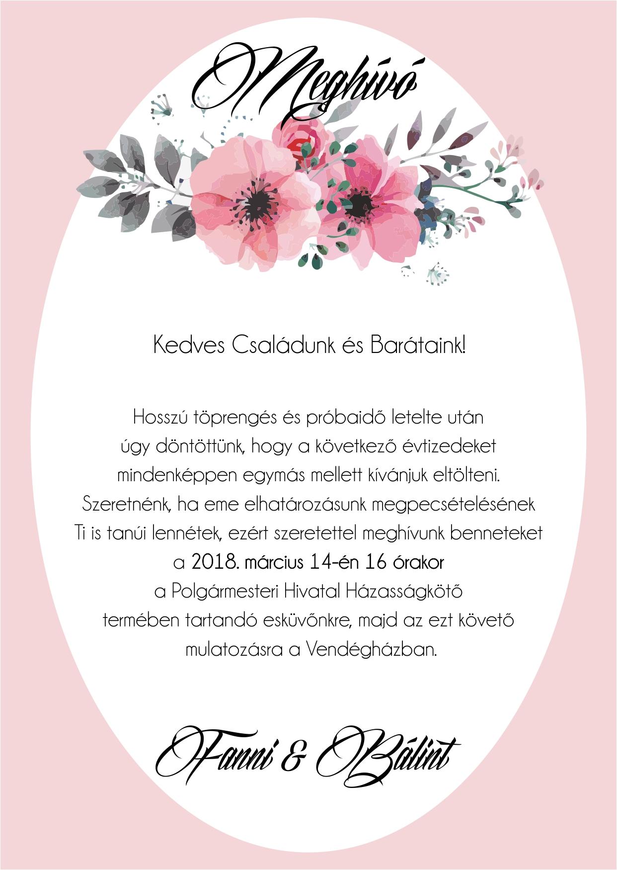 138 minta - tekercses esküvői meghívó