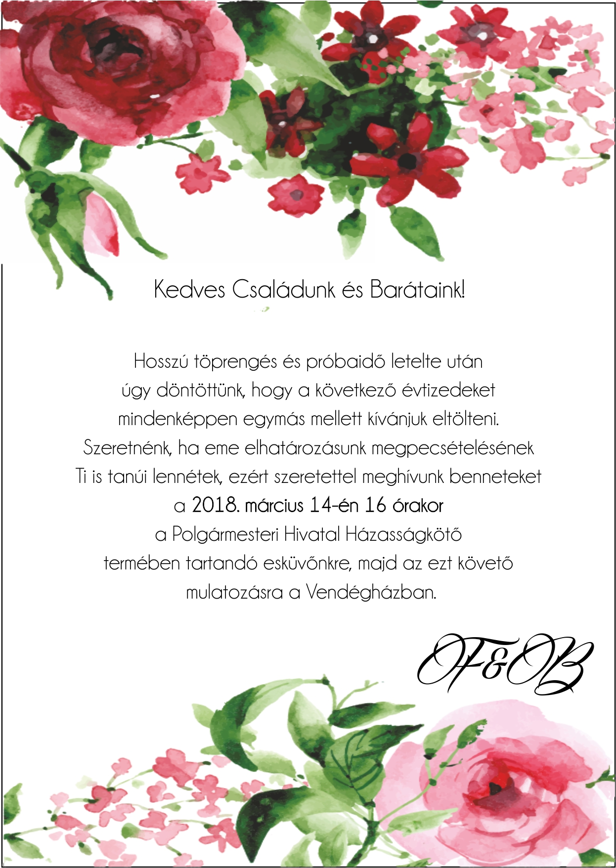 141 minta - tekercses esküvői meghívó