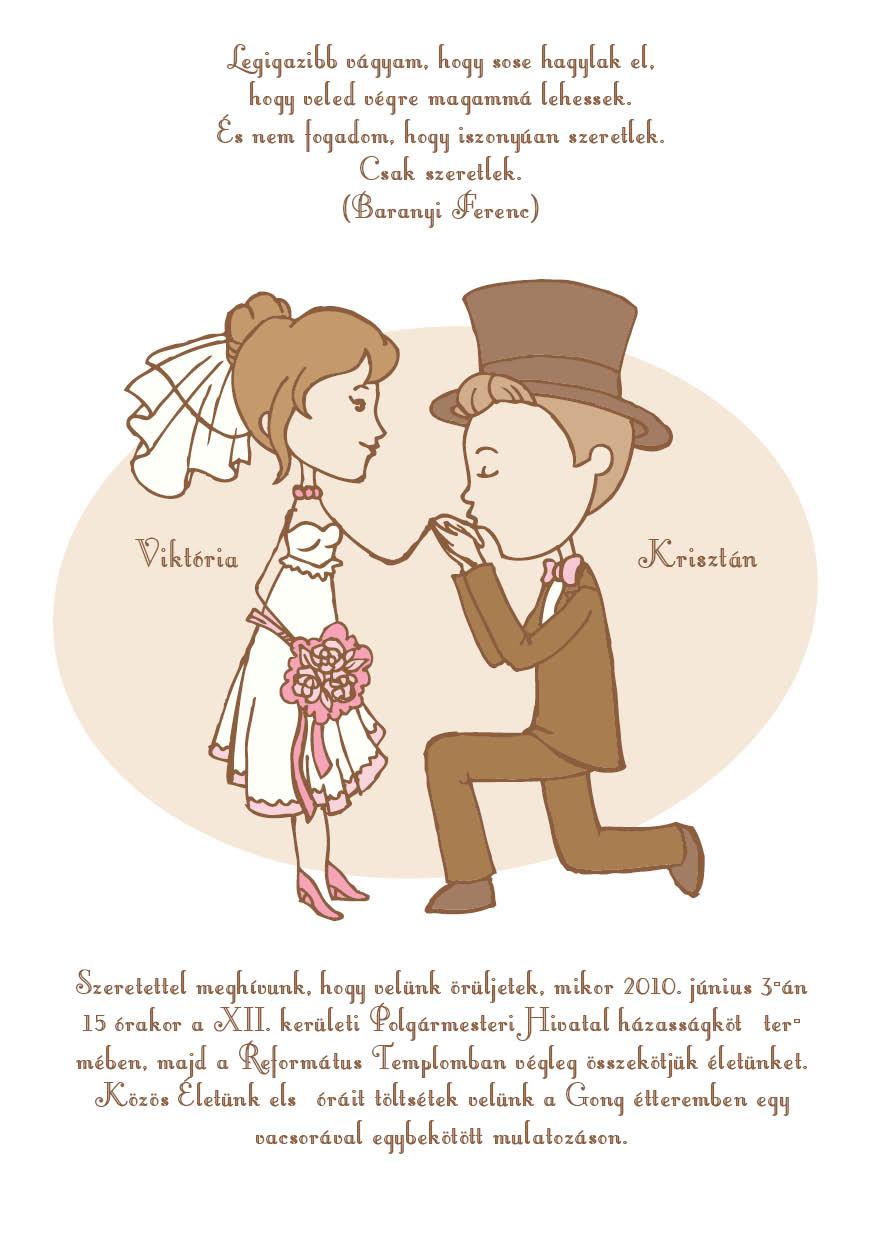 4 minta - tekercses esküvői meghívó