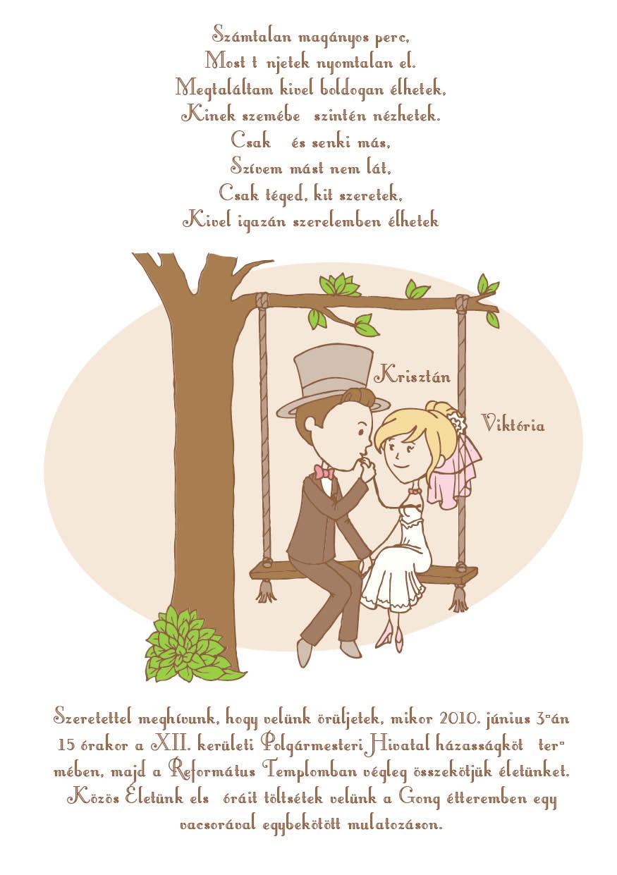 5 minta - tekercses esküvői meghívó