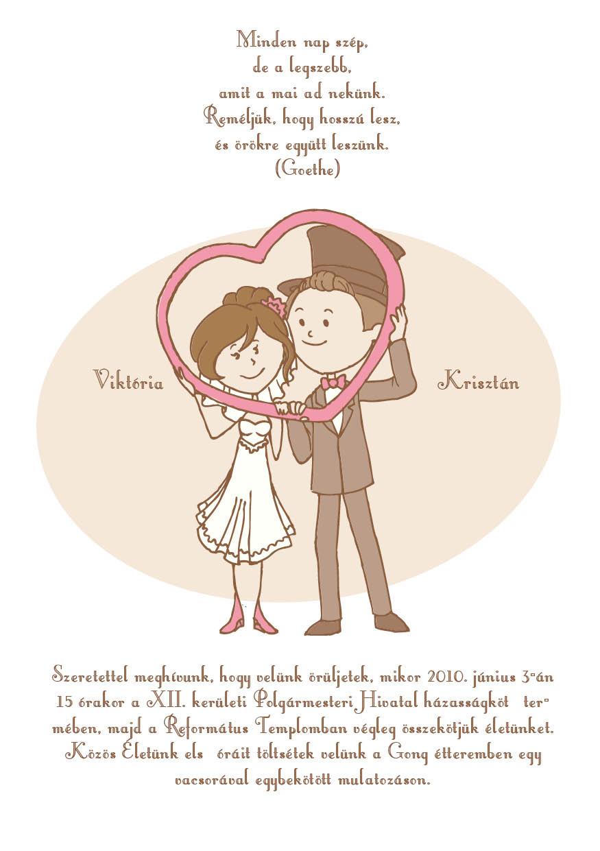 6 minta - tekercses esküvői meghívó