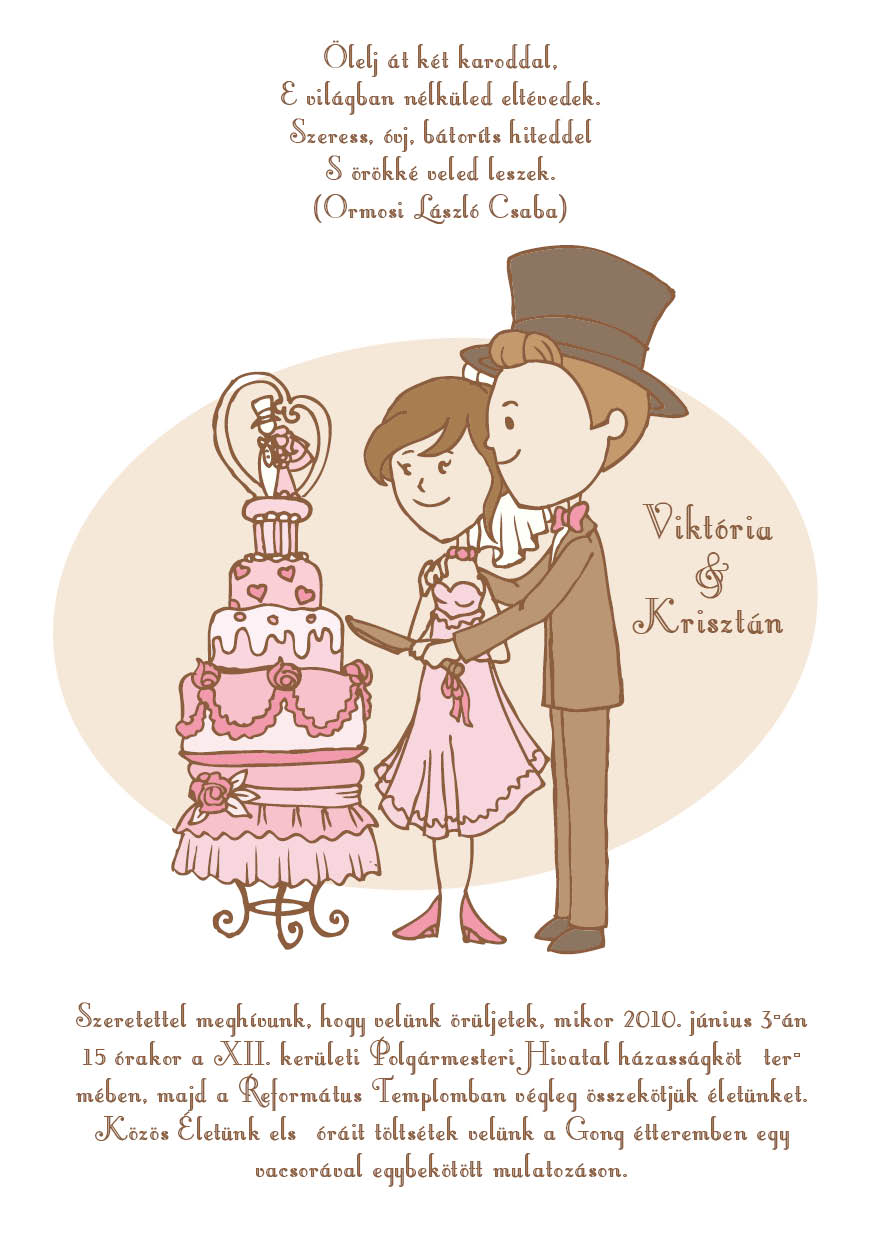 10 minta - tekercses esküvői meghívó