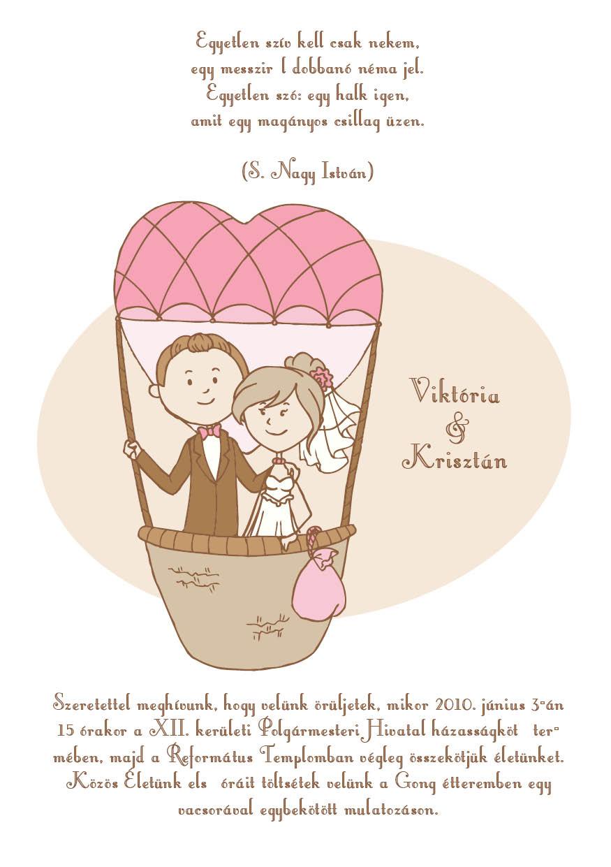 11 minta - tekercses esküvői meghívó