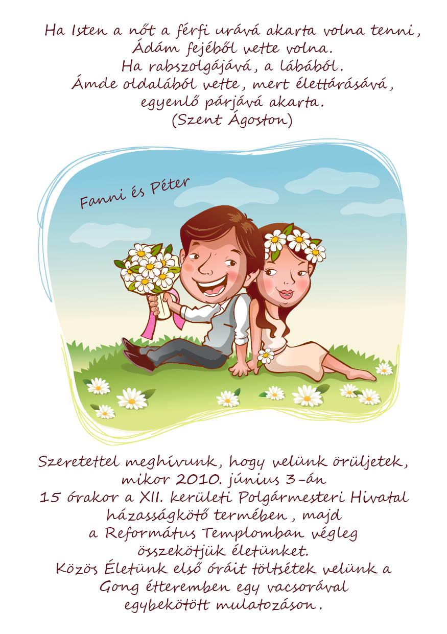 12 minta - tekercses esküvői meghívó