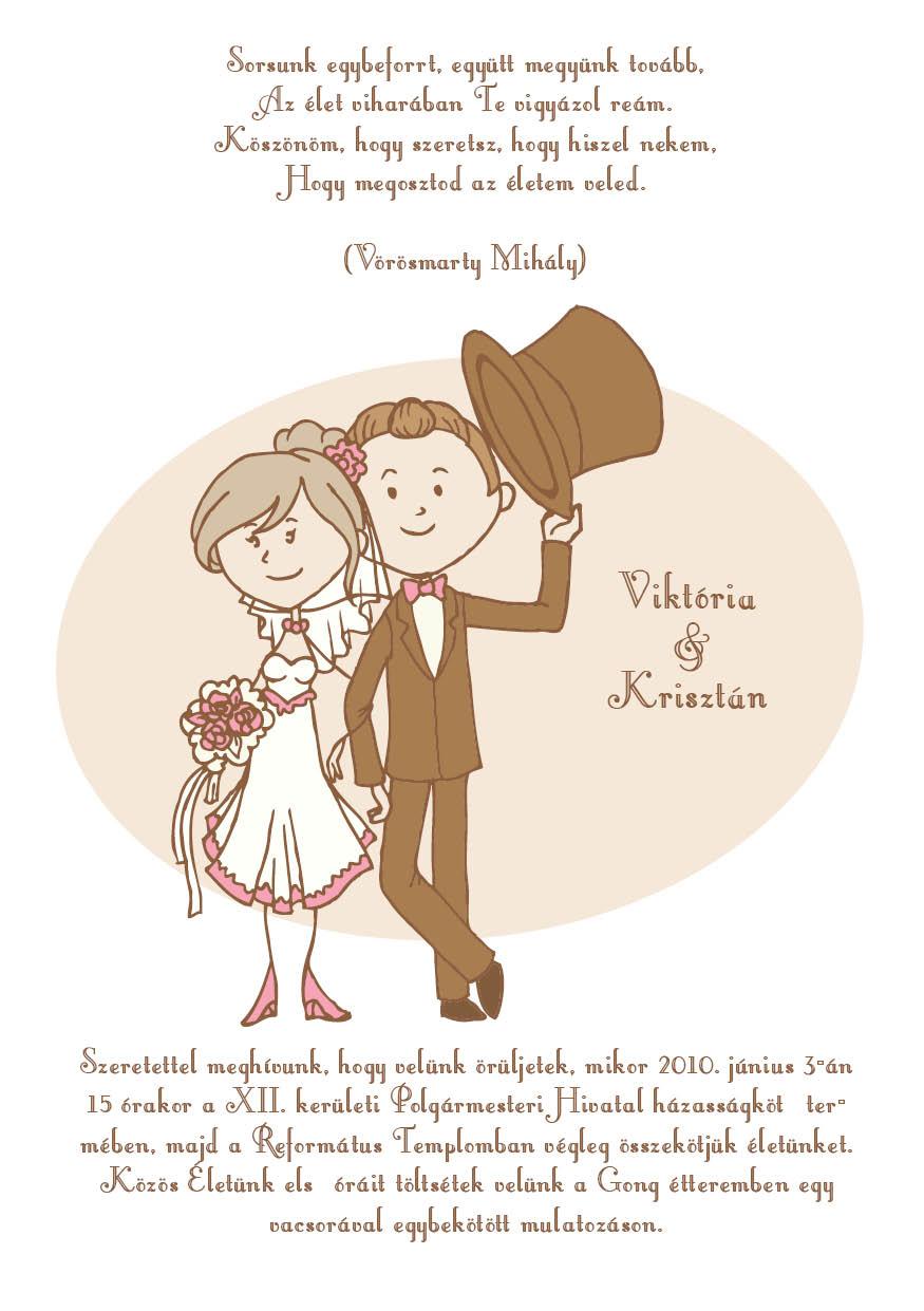 13 minta - tekercses esküvői meghívó