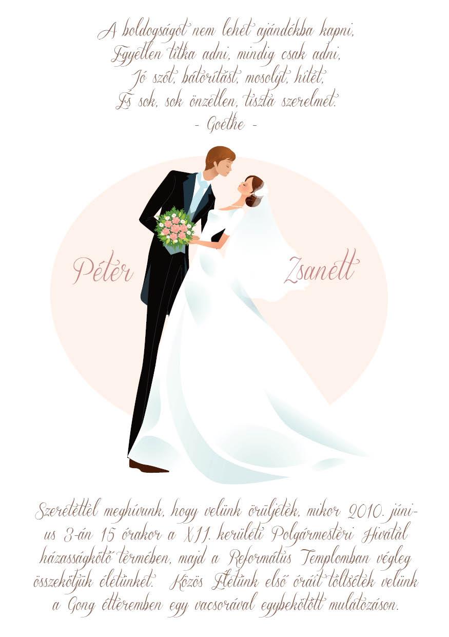 16 minta - tekercses esküvői meghívó