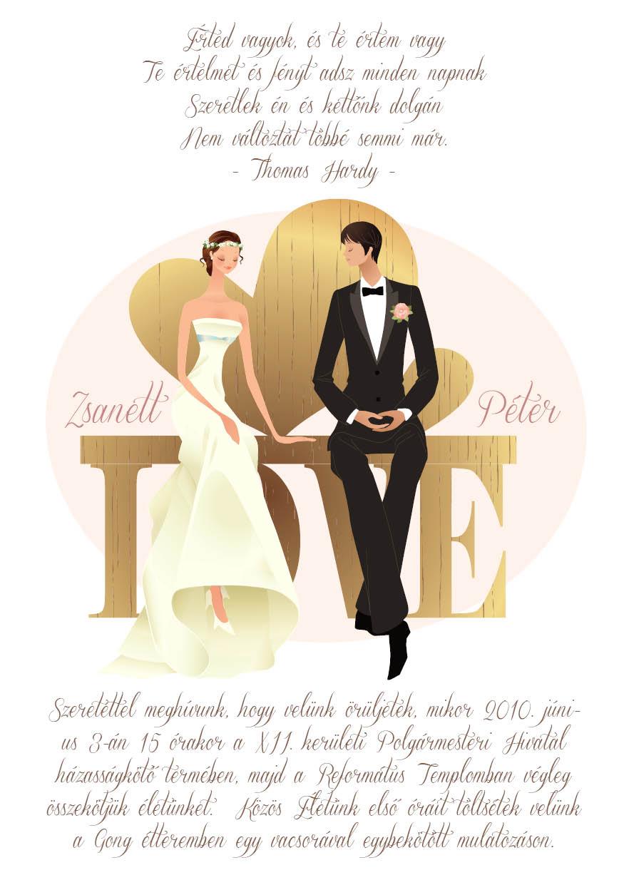 18 minta - tekercses esküvői meghívó
