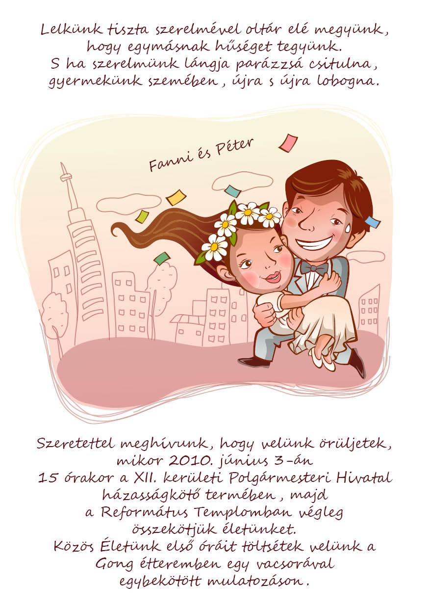 23 minta - tekercses esküvői meghívó