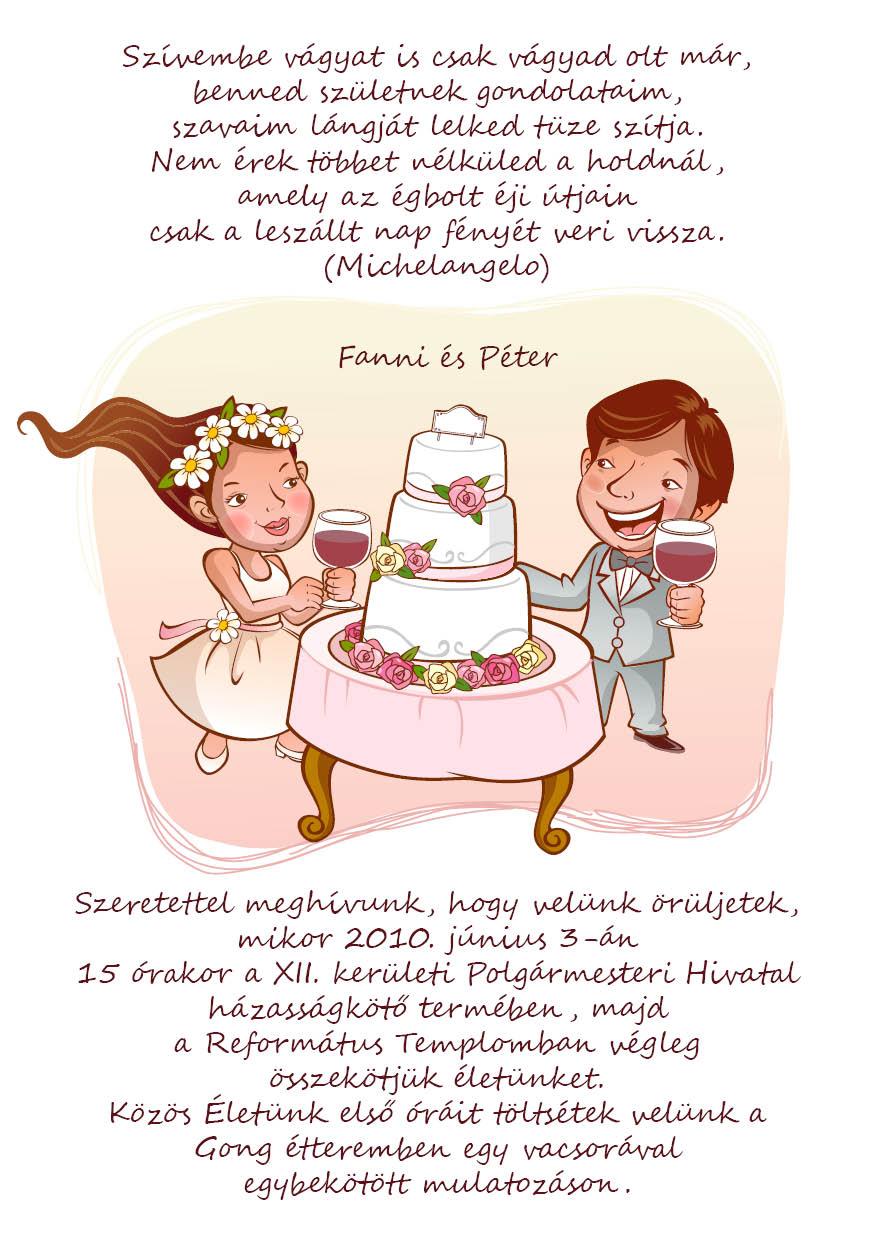 34 minta - tekercses esküvői meghívó