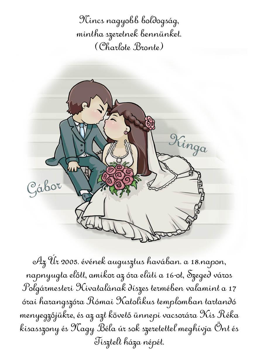 35 minta - tekercses esküvői meghívó