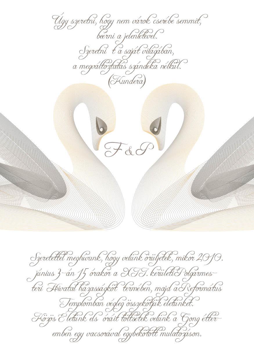 43 minta - tekercses esküvői meghívó