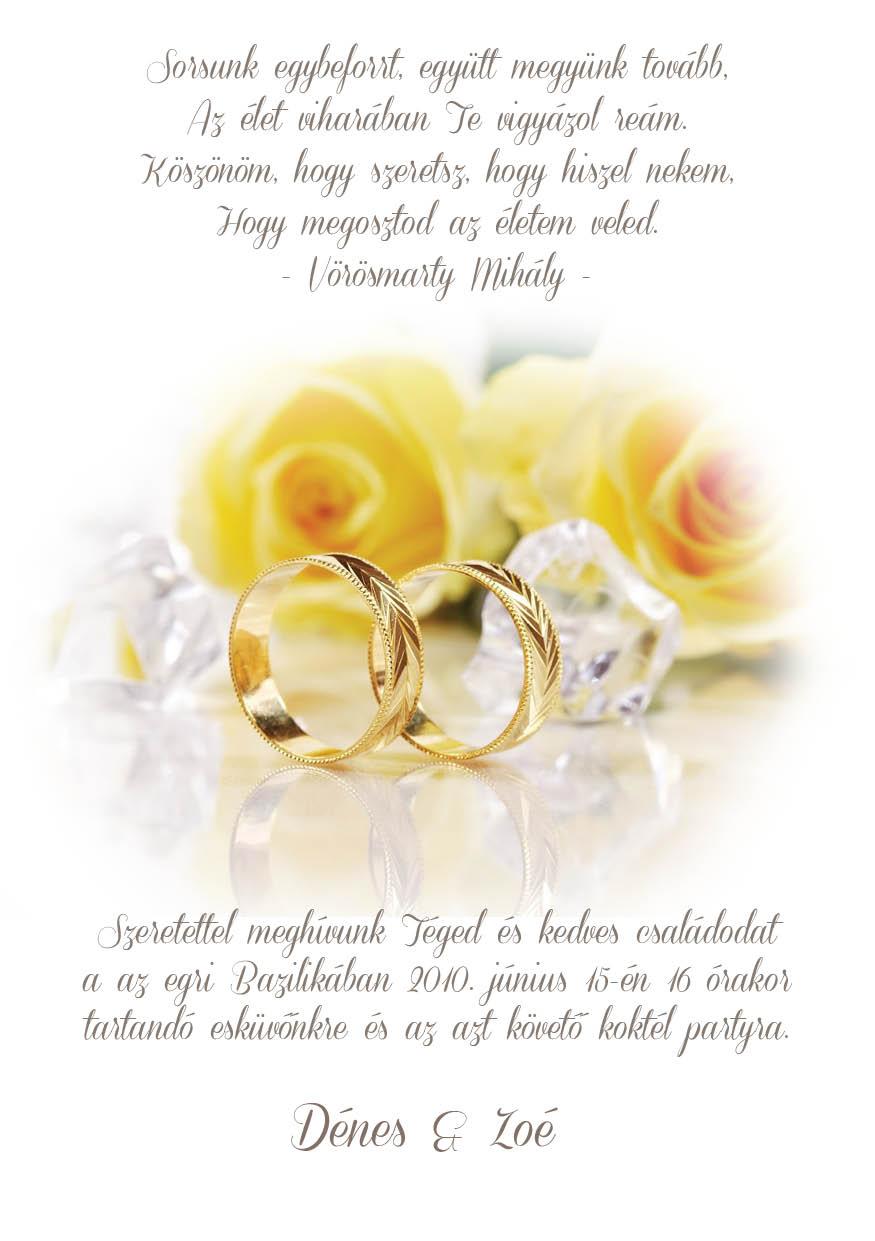 45 minta - tekercses esküvői meghívó
