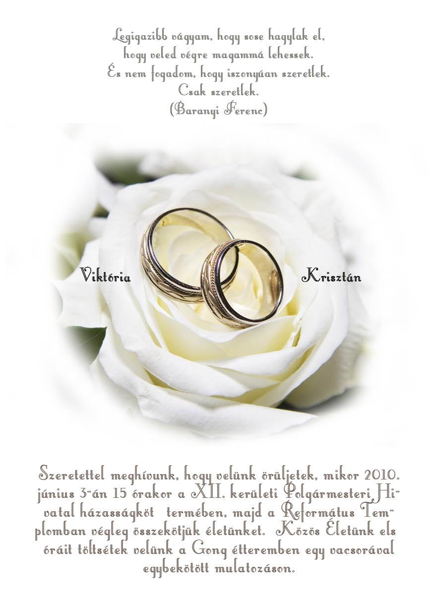 46 minta - tekercses esküvői meghívó