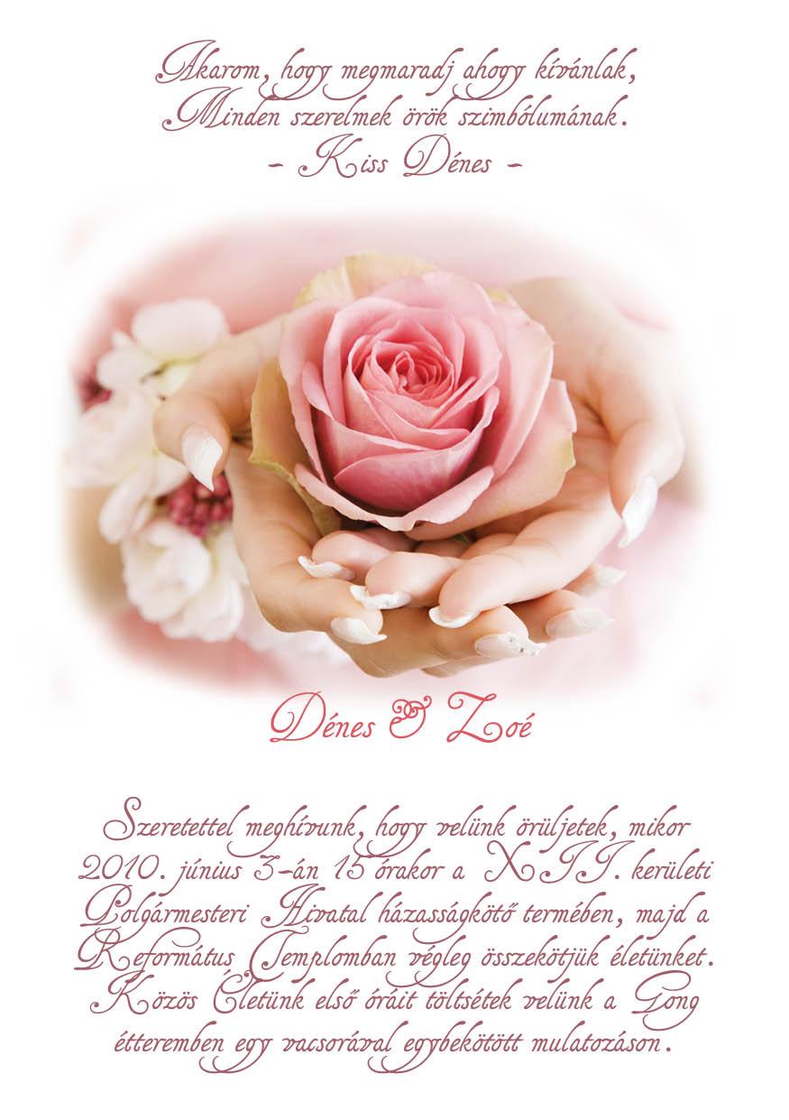 48 minta - tekercses esküvői meghívó