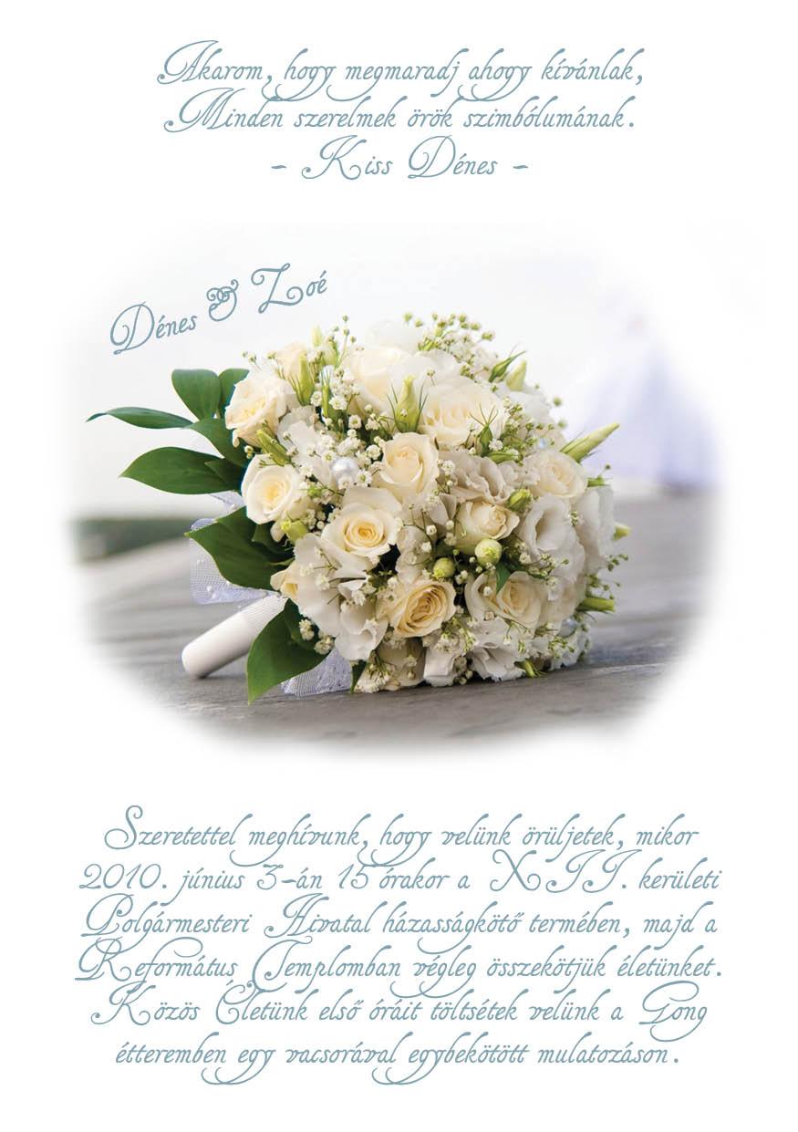 49 minta - tekercses esküvői meghívó