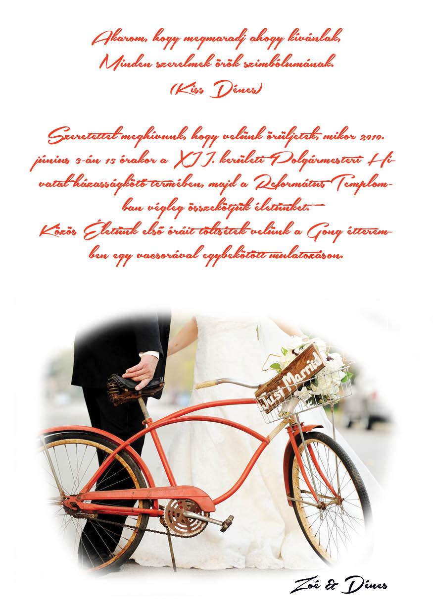 51 minta - tekercses esküvői meghívó