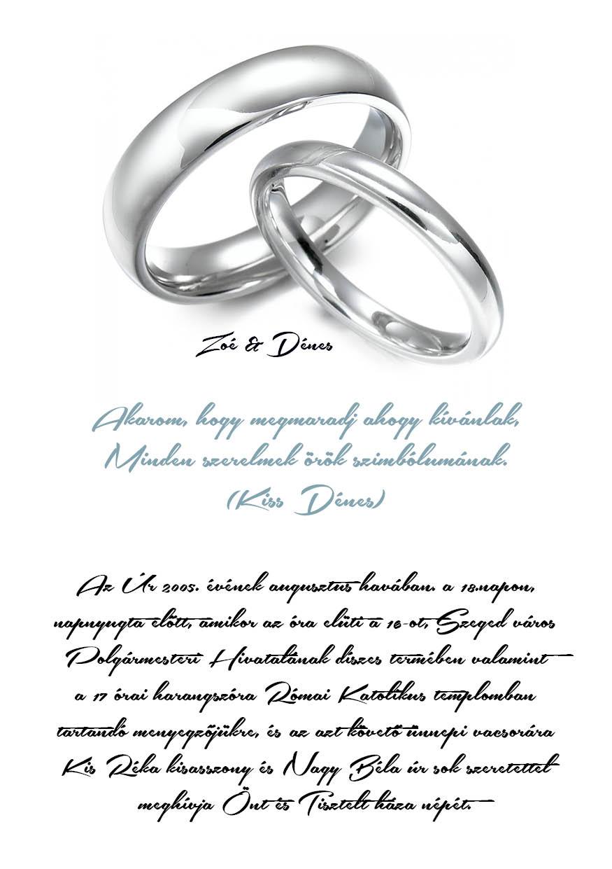 52 minta - tekercses esküvői meghívó